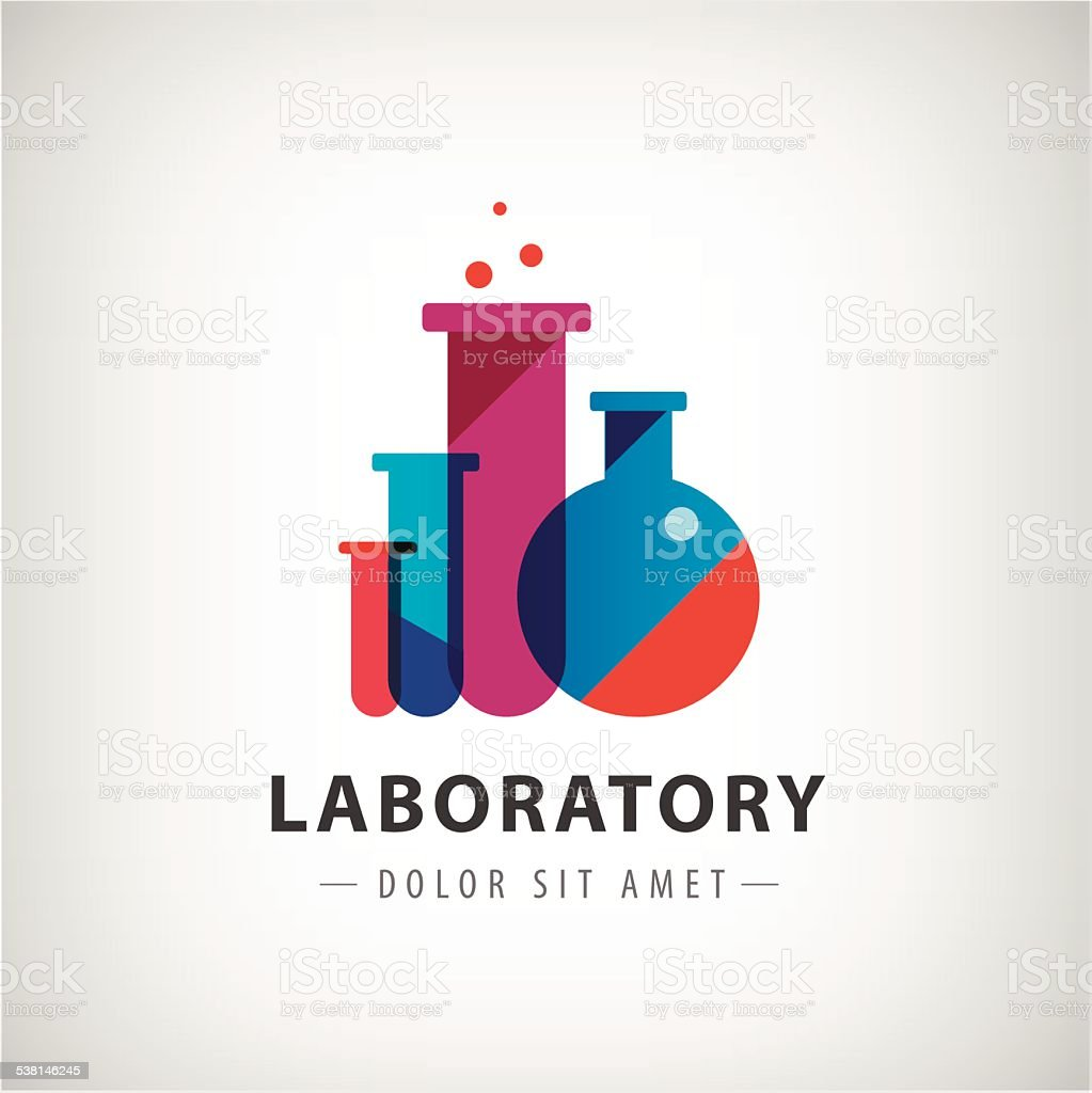 vector laboratory, chemical, medical test logo, icon vector art illustration