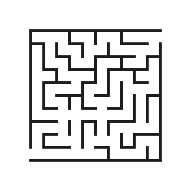 벡터 미 궁입니다. 미로 또는 미 궁입니다. 벡터입니다. - 미로찾기 stock illustrations