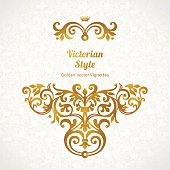 Vector lace pattern in Victorian style.