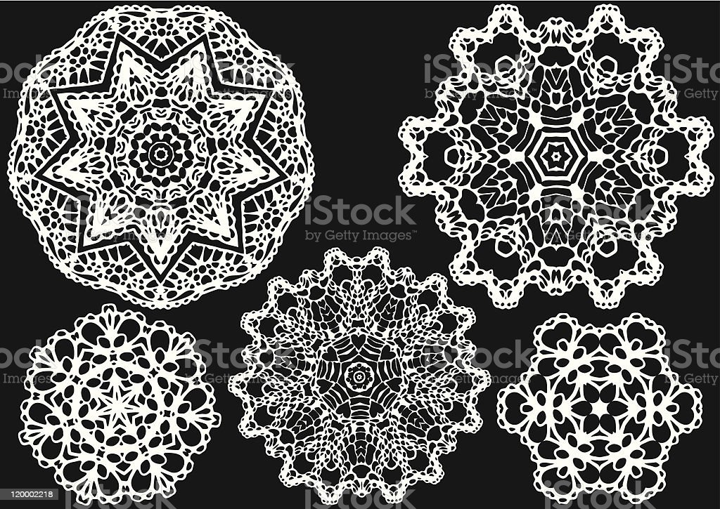 vector lace pattern royalty-free stock vector art