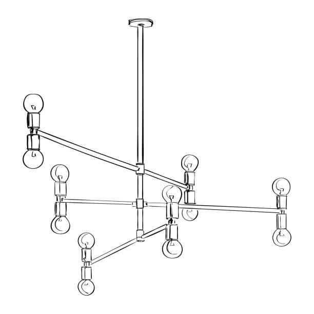 Vektor-Lampe Skizze Illustration – Vektorgrafik