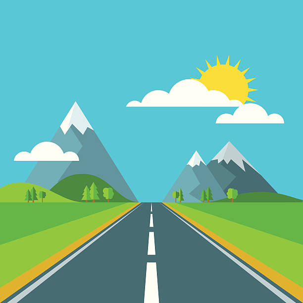 Royalty free road clip art vector images illustrations