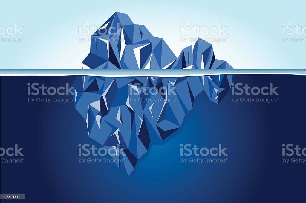 Vector - Landscape with iceberg vector art illustration