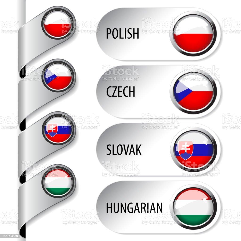 ポーランド語チェコ語スロバキア語ハンガリー語 Web のフラグを持つ ...