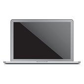 Vector laptop template
