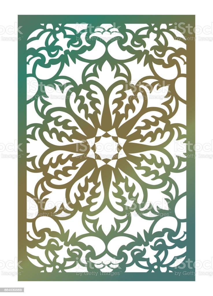 Vector laser cut panel abstract pattern template for decorative vector laser cut panel abstract pattern template for decorative panel template for interior design stopboris Choice Image