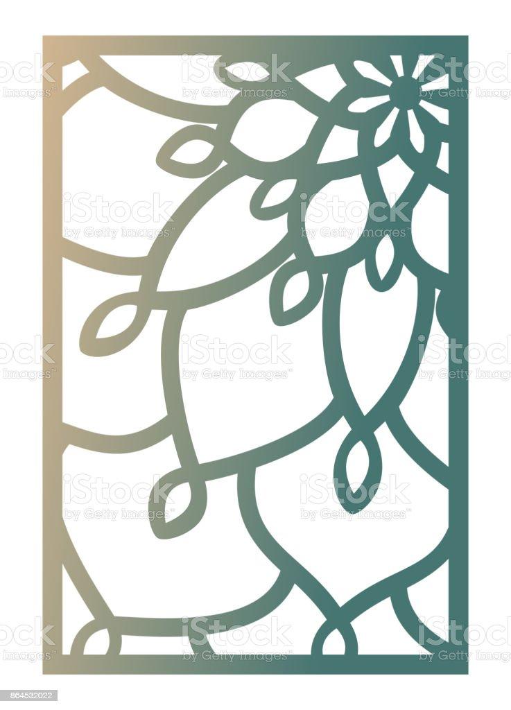 Ilustración De Vector Láser Corte Panel Plantilla Modelo