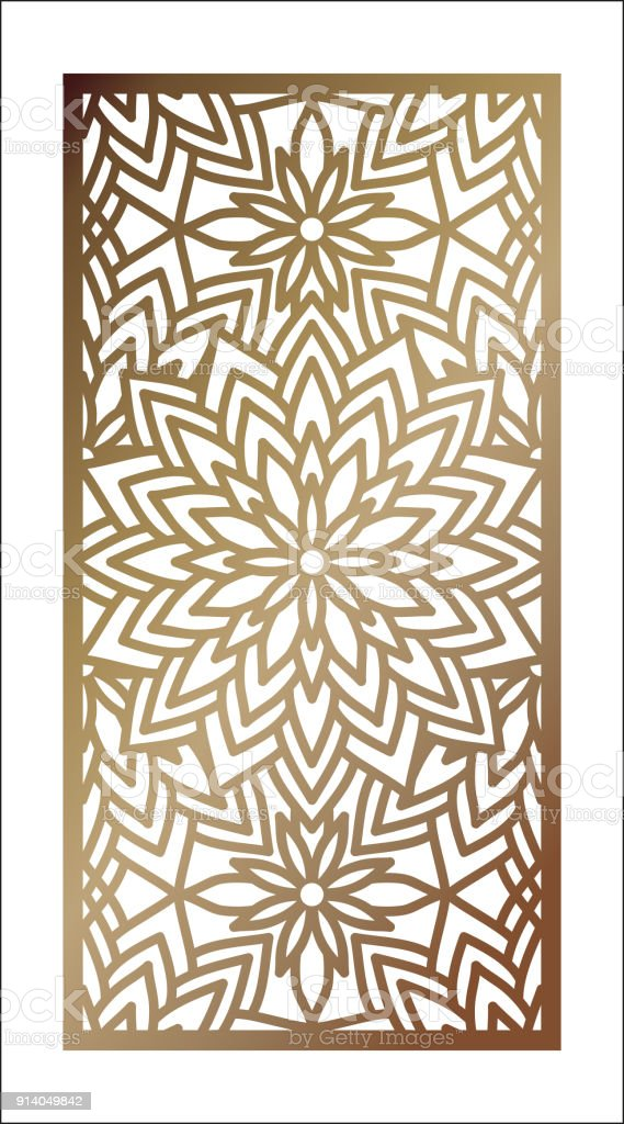 Vector Laser Cut Panel Abstract Pattern Template For Decorative ...