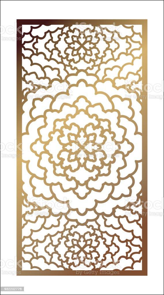 Vector laser cut panel pattern template for decorative panel vector laser cut panel pattern template for decorative panel template for interior design stopboris Choice Image