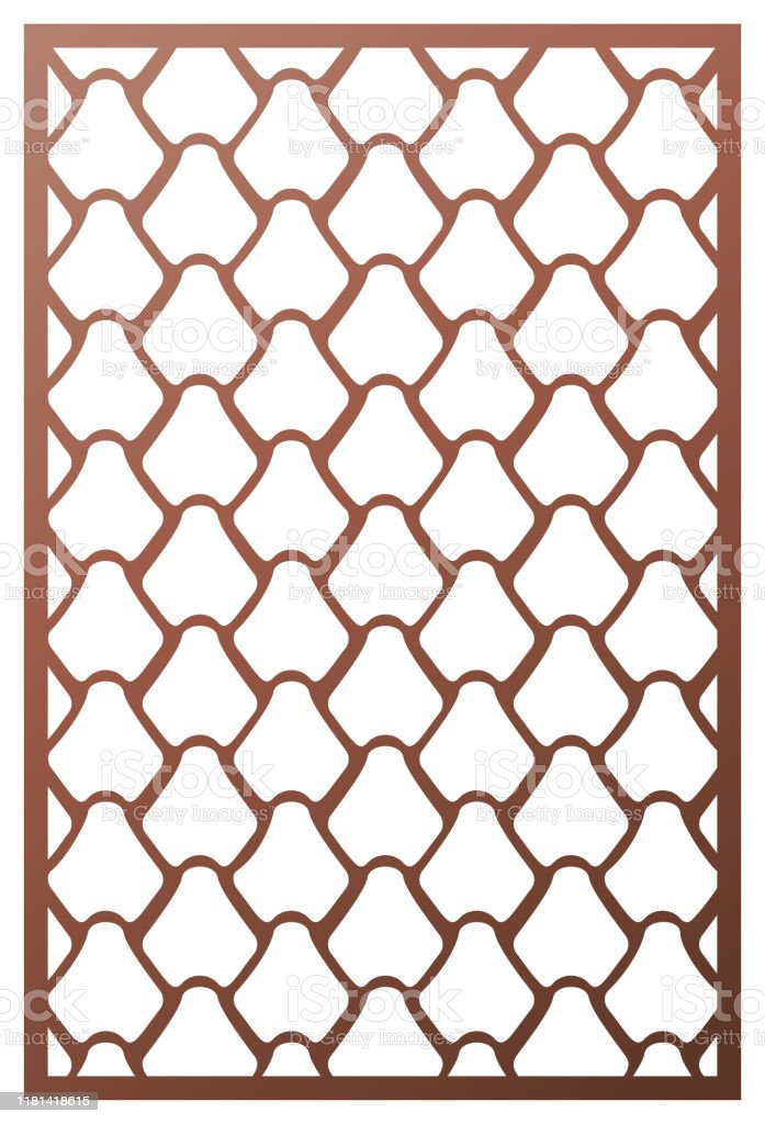 Vektorlaserschnittpanel Mustervorlage Fur Dekorative Panel Wandpaneele Oder Trennwande Puzzle Stanze Geschnitten Ornamente Lacy Ausschnitt Silhouette Schablonen Fretwork Weben Orientalische Muster Vektorvorlage Fur Papierschneiden Metall Ac Stock