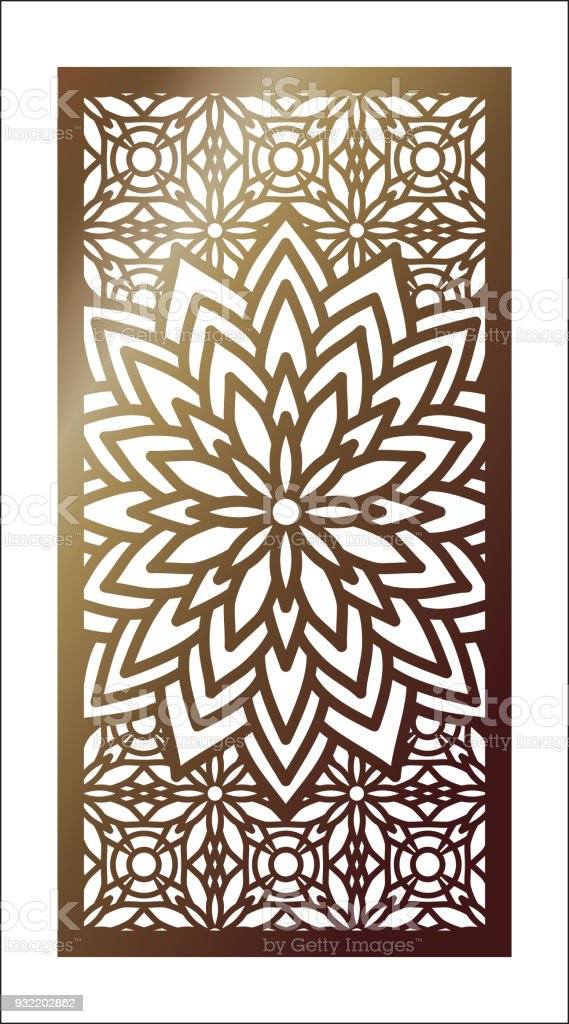 Vector Laser Cut Panel Pattern Template For Decorative Wall Panels Or Partition