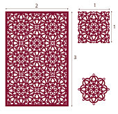 Vector Laser cut panel, the seamless eastern pattern for decorative panel. Image suitable for engraving, printing, plotter cutting, laser cutting
