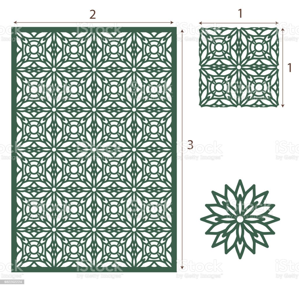 Vector Laser Cut Panel The Seamless Eastern Design Pattern For ... for Laser Cut Designs Paper  45hul