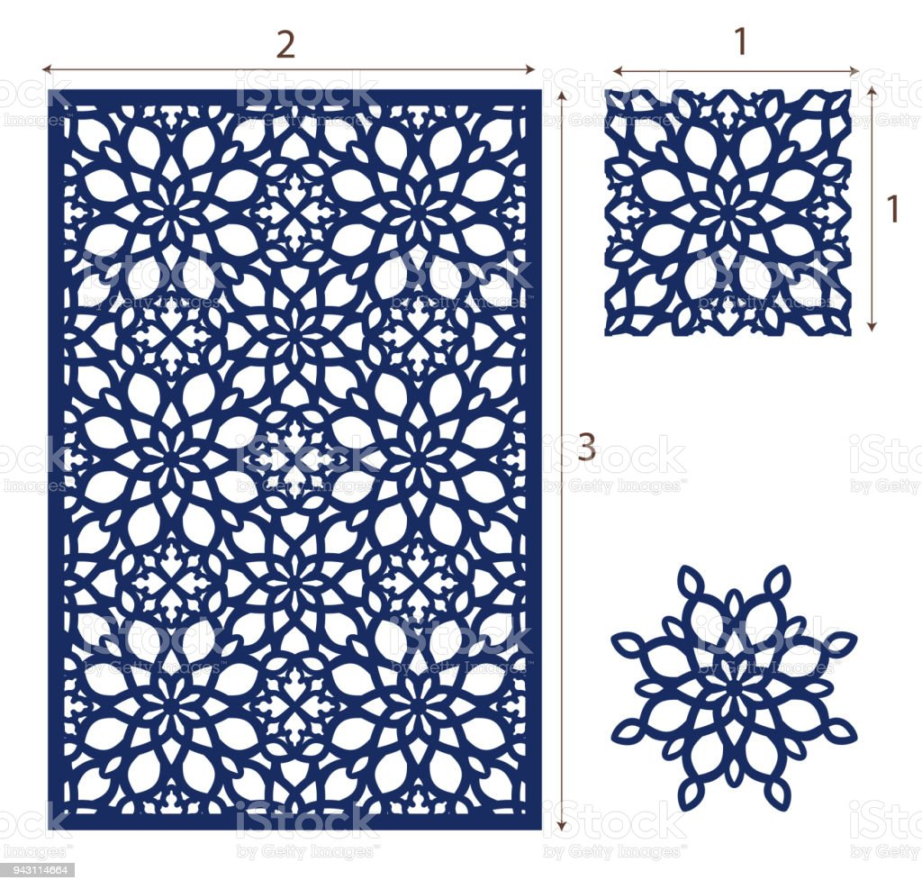 vector laser cut panel the seamless eastern design pattern for
