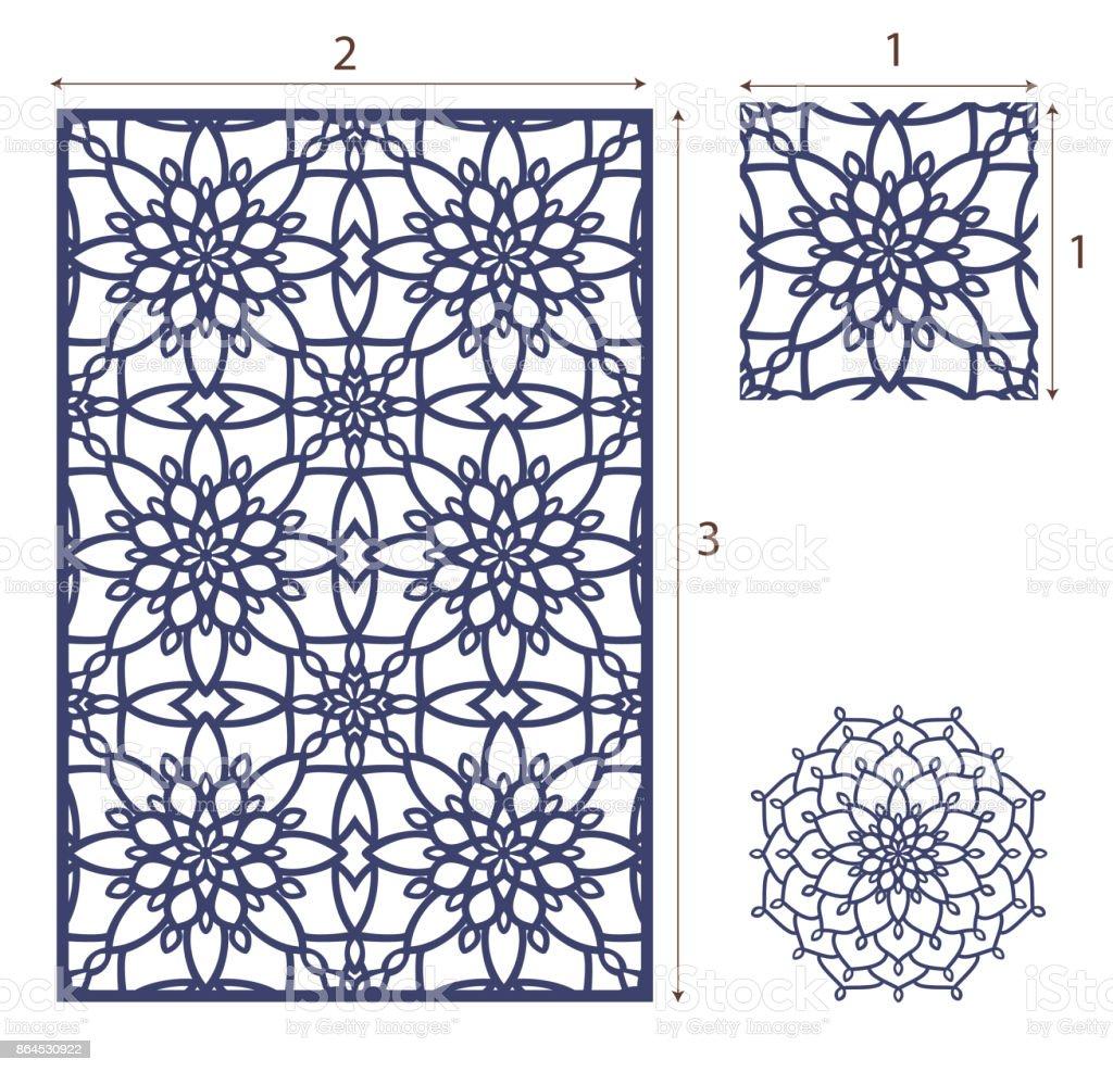 Ilustración de Vector Láser Corta El Panel El Patrón Sin Costuras ...