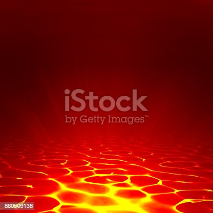 istock Vector lava background. Abstract lava wallpaper red flame illustration. Volcanic burn of magma. Burnt ground 860509138