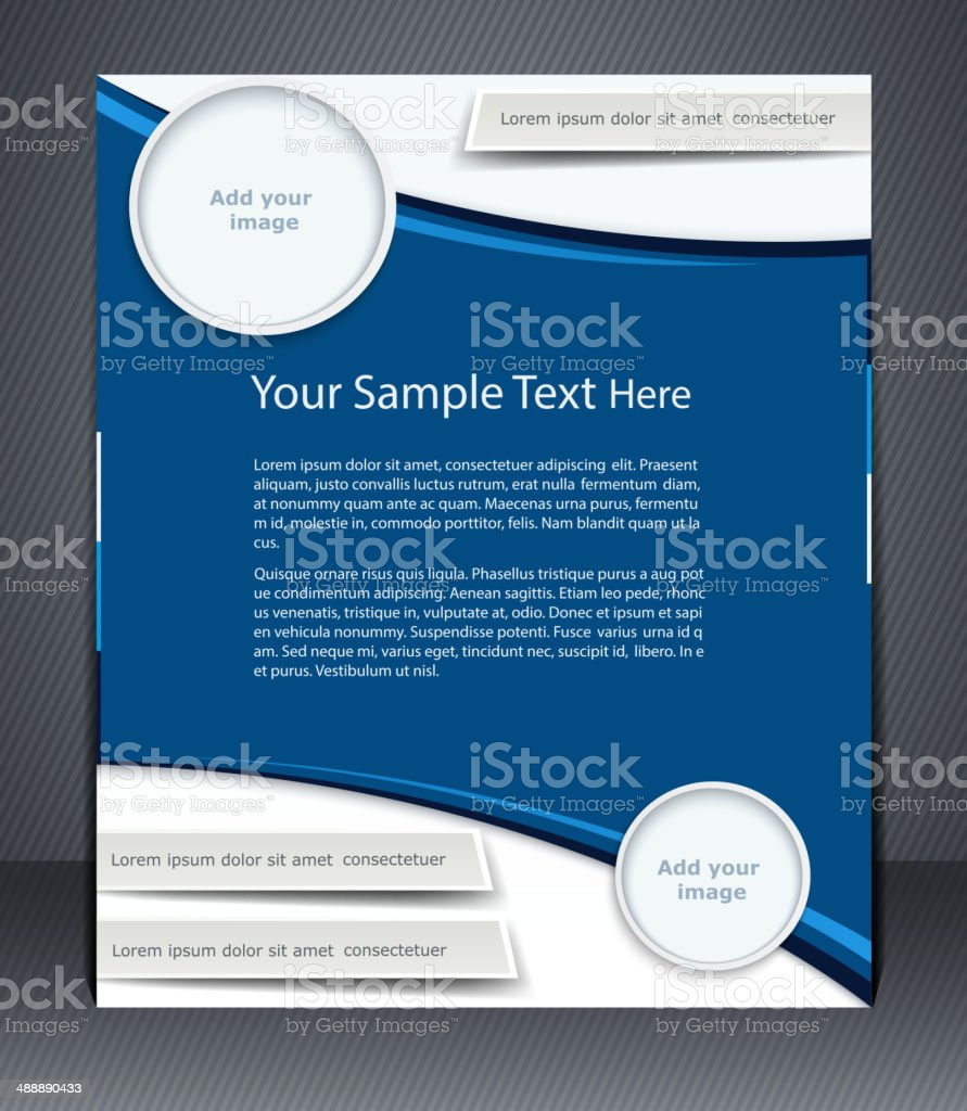 Vector layout business flyer, magazine cover vector art illustration