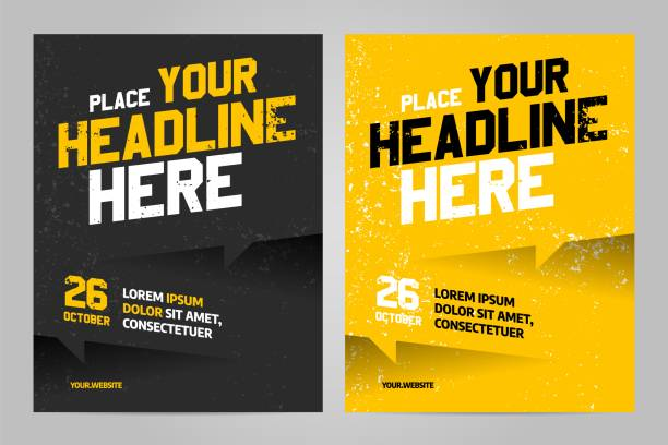 vector layout design template for sport event - invitations templates stock illustrations