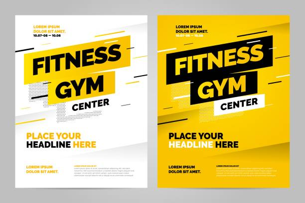vector layout design template for sport - poster stock illustrations
