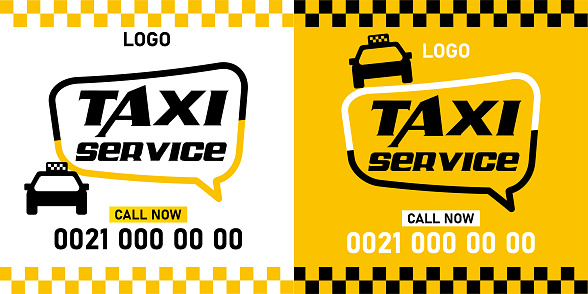 Vector layout design template for taxi service. Can be adapt to Brochure, Annual Report, Magazine, Poster.