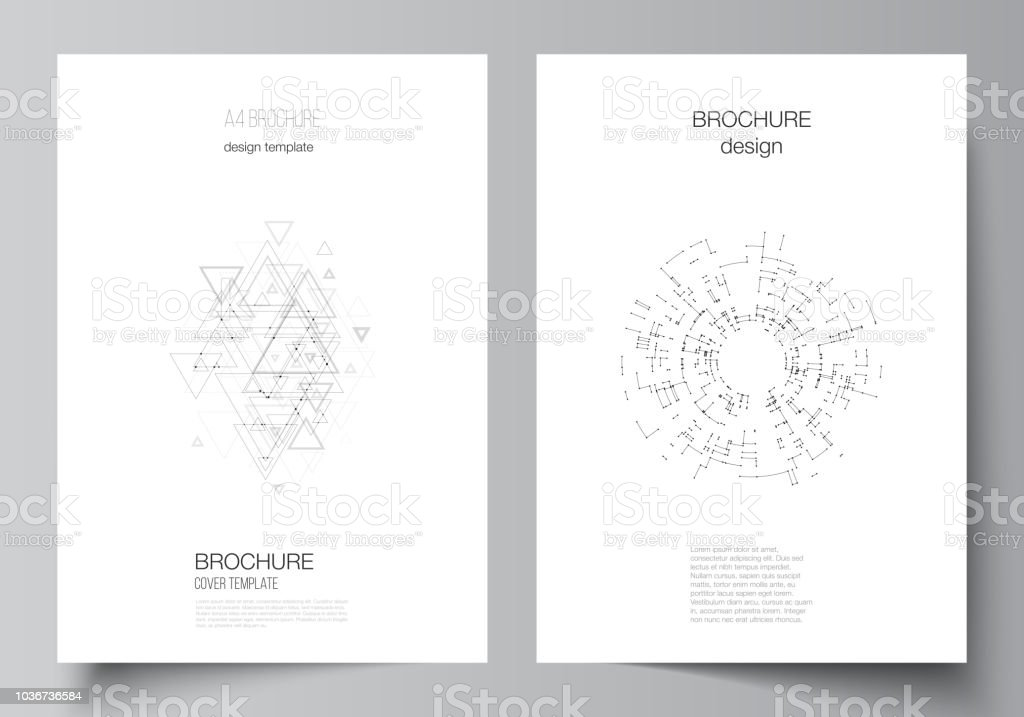 vector layout of a4 format modern cover mockups design templates for