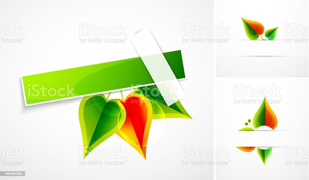 Vector leaf banners royalty-free stock vector art