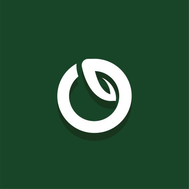 Vector Leaf Letter Design O vector art illustration