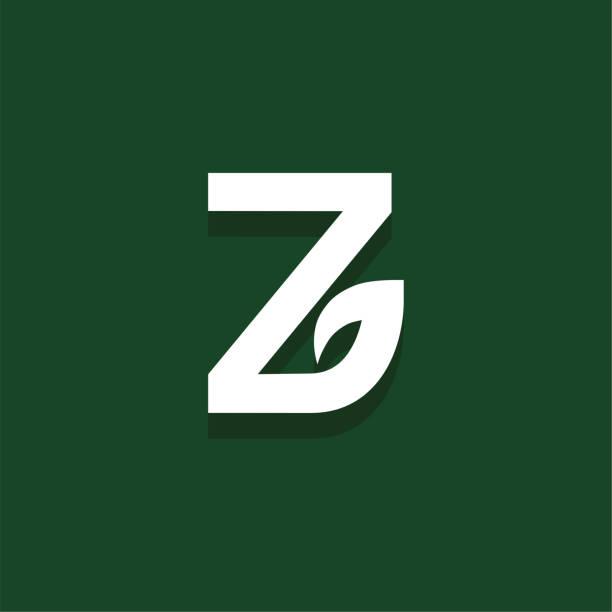 Vector Leaf Letter Design Z vector art illustration