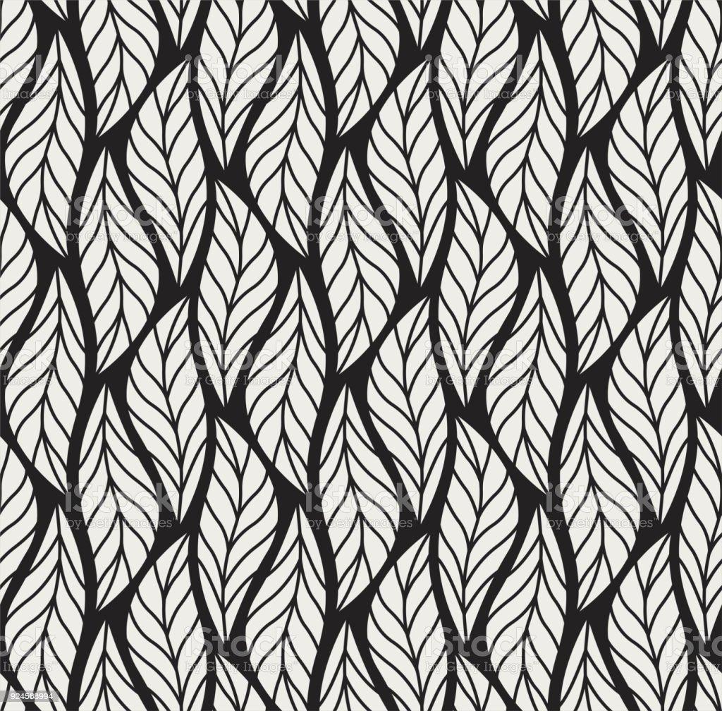 Vektorblattnahtlose Muster Abstrakt Lasst Textur Stock