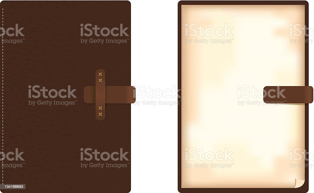 vector leather note book royalty-free stock vector art