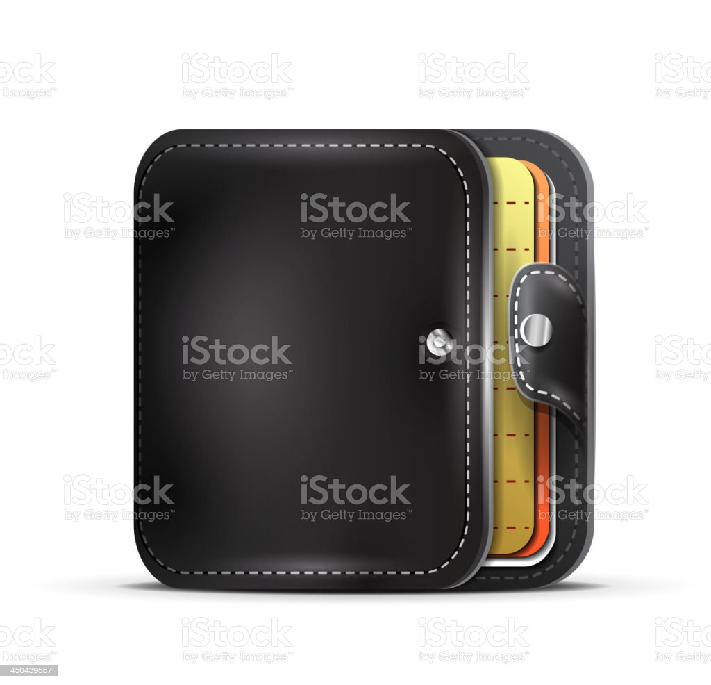 Vector leather wallet royalty-free vector leather wallet stock vector art & more images of book