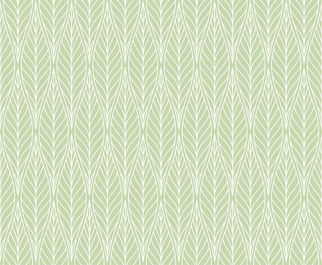 Vector Leaves Seamless Pattern. Abstract Grid Background. Geometric texture.