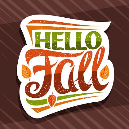 Vector lettering Hello Fall