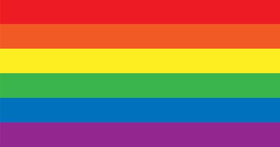 Vector LGBT rainbow pride flag