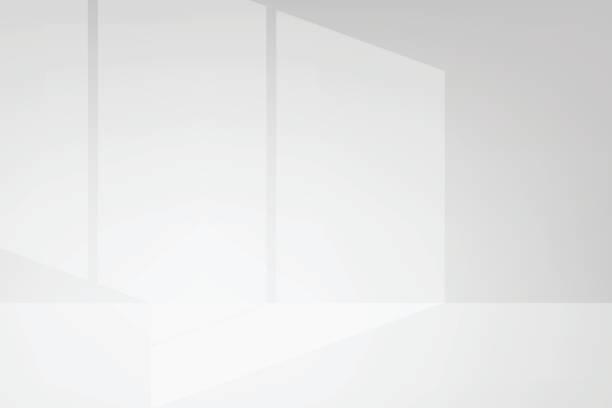 illustrations, cliparts, dessins animés et icônes de vecteur de lumière et d'ombre - architecture intérieure beton