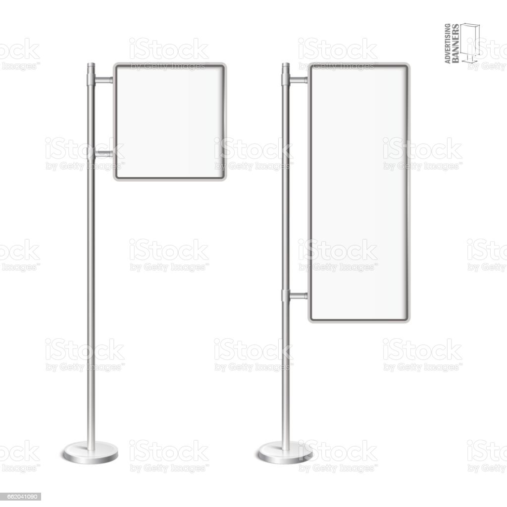 Vector light box with chrome stand royalty-free vector light box with chrome stand stock vector art & more images of advertisement