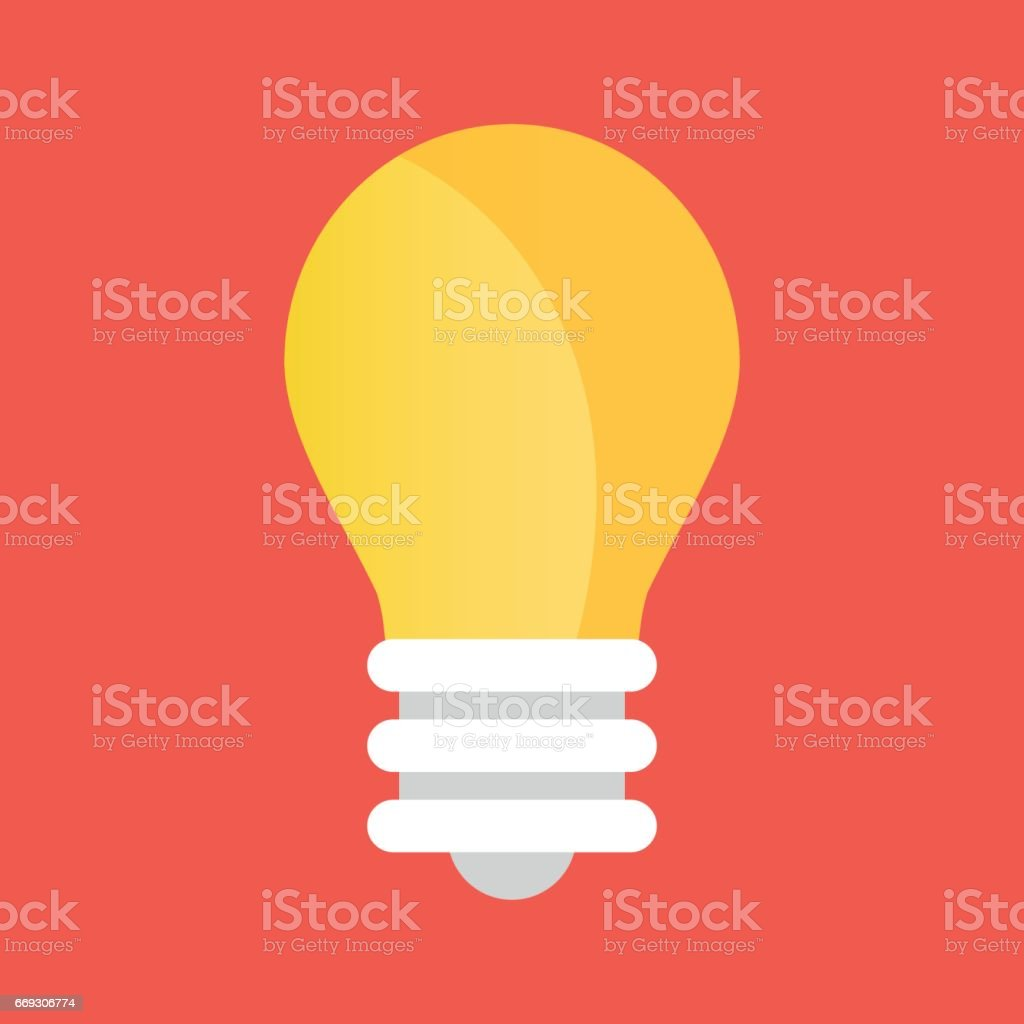 Vector light bulb icon. Lightbulb icon vector art illustration