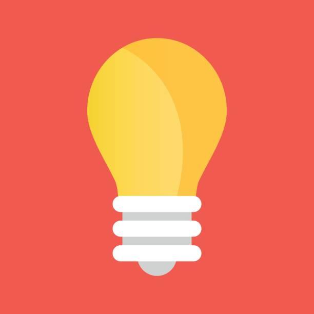 vector light bulb icon. lightbulb icon - flat design icons stock illustrations, clip art, cartoons, & icons