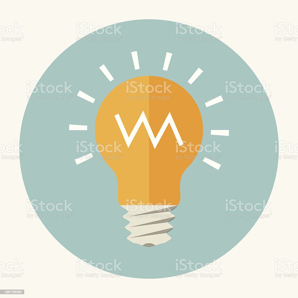 Vector light bulb icon vector art illustration