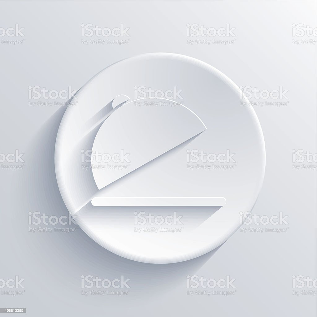 Vector light circle icon. Eps10 vector art illustration