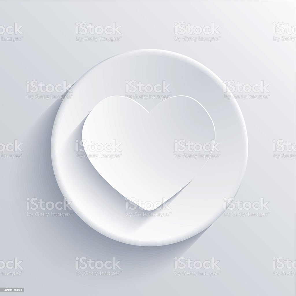 Vector light circle icon. Eps10 royalty-free stock vector art