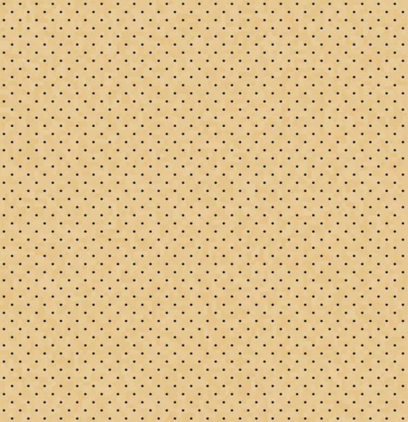 vektor-licht perforierte leder nahtlose textur. realistische perforierte hintergrund. beige gepunktete muster. autositz-material-design. endlose webseite füllen. hintergrund mit kleinen schwarzen löchern - lederverarbeitung stock-grafiken, -clipart, -cartoons und -symbole