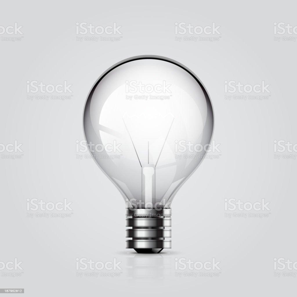 Vector lightning bulb royalty-free stock vector art