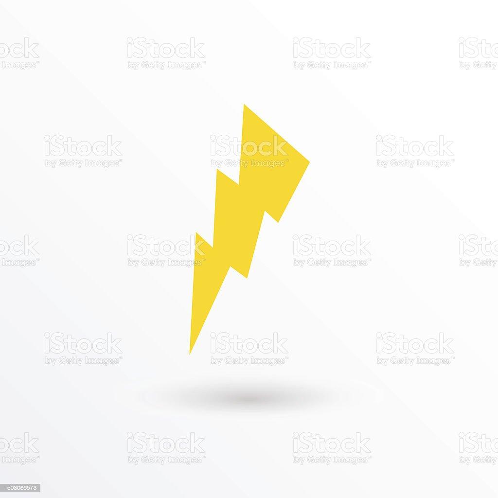 Vector lightning icon vector art illustration
