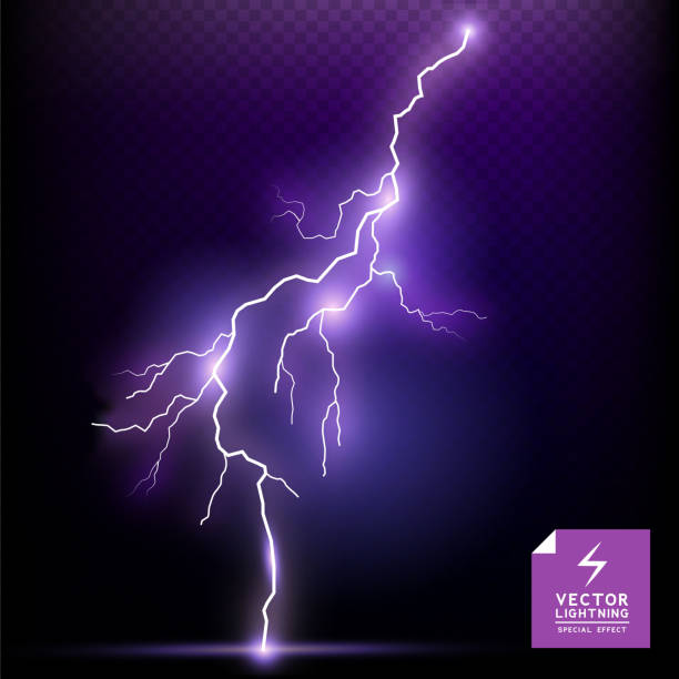 Vector Lightning special effect Vector Lightning special effect. Vector illustration. forked lightning stock illustrations
