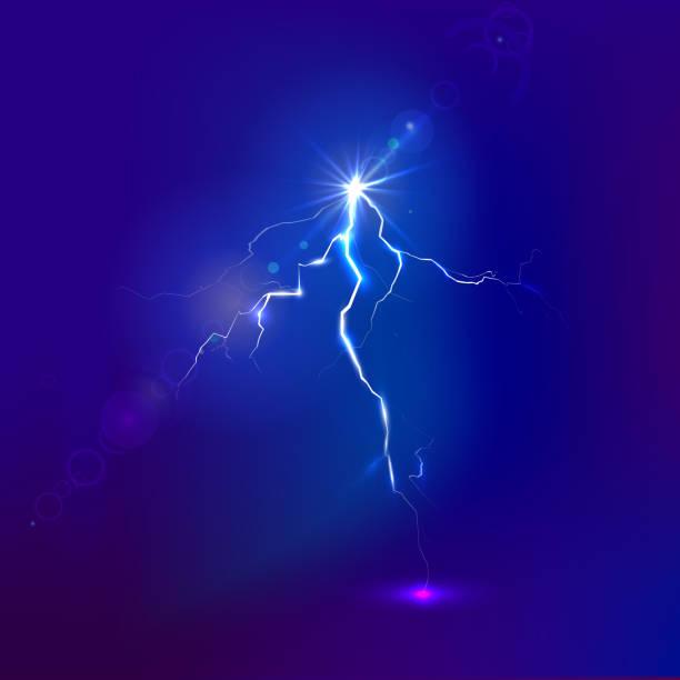 Vector lightning vector art illustration