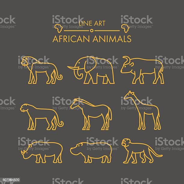 Vector line african animals icon set vector id507364520?b=1&k=6&m=507364520&s=612x612&h=qv6o4wg5i2lhwlum8mf3ppf1mvg9dqhrudmeb cv5me=