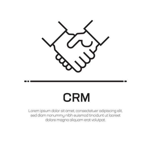 CRM Vector Line Icon - Simple Thin Line Icon, Premium Quality Design Element CRM Vector Line Icon - Simple Thin Line Icon, Premium Quality Design Element bonding stock illustrations