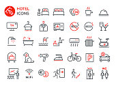 Set of vector signs and symbols. Simple flat design. Outline icons collection for web and mobile app UI. Isolated on white
