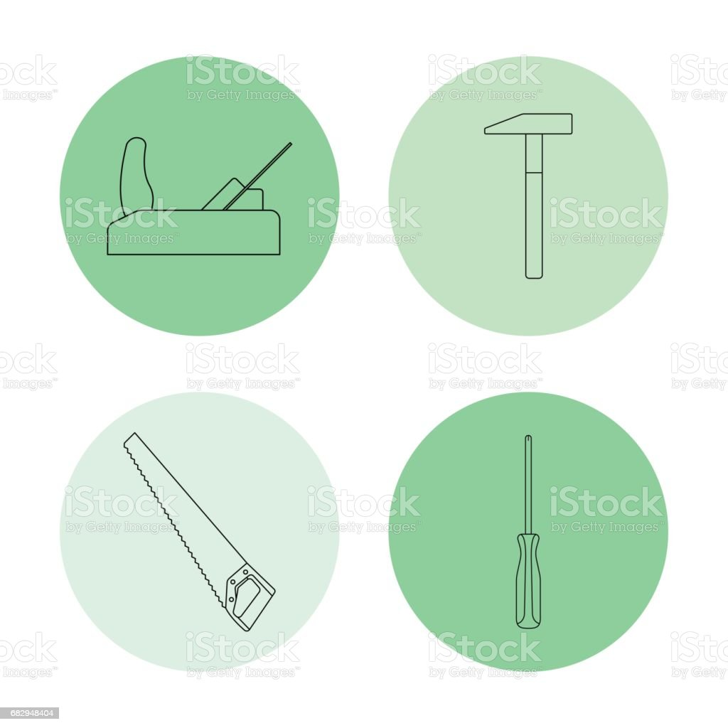 vector line icons royalty-free vector line icons stock vector art & more images of carpentry